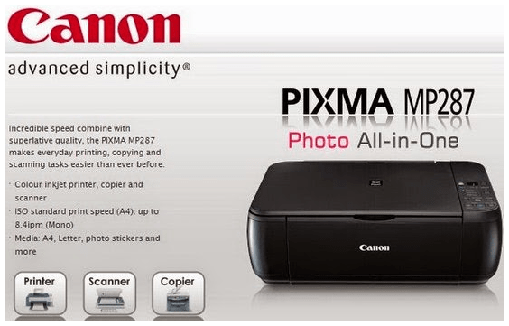 Driver Printer and Scanner Canon MP287